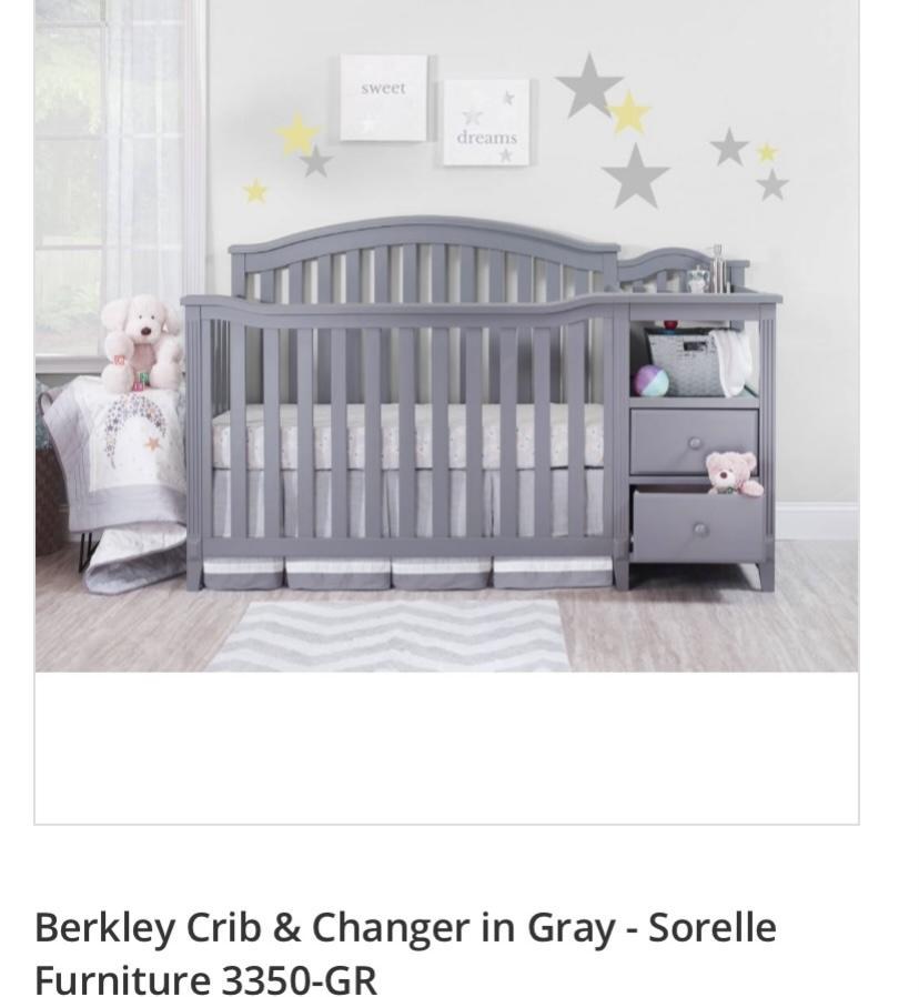 berkley/ sorelle crib & changer