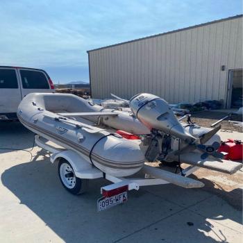 Inflatable Raft, Motor&Trailer