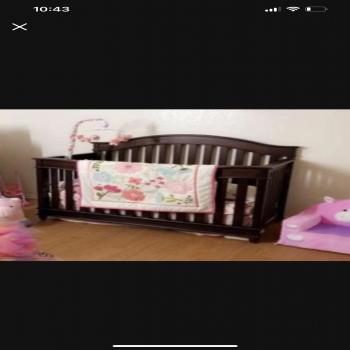 baby crib,mattress,bedding