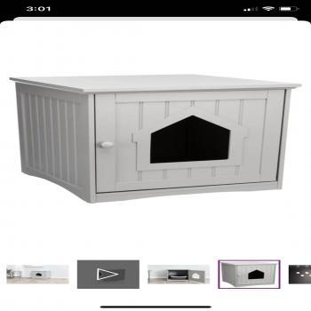 furniture cat litter box