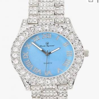 iced out CR blue analog