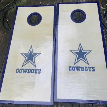Dallas Cowboys cornhole boards