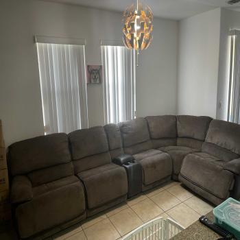 sofá eléctrico reclinable