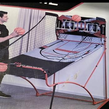 Indoor electric basketball hoop
