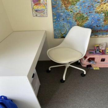 children desk and chair