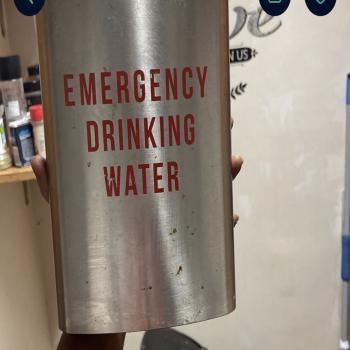 oversized drinking flask never