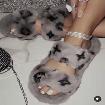 women's fur slippers