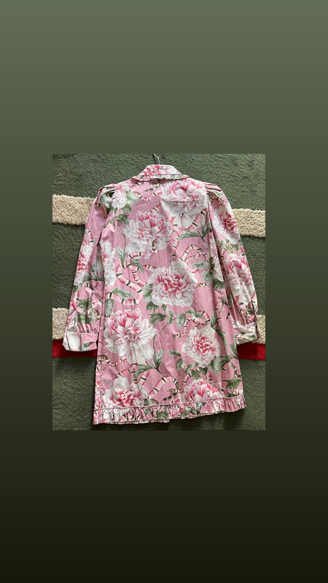 Gucci pink print dress