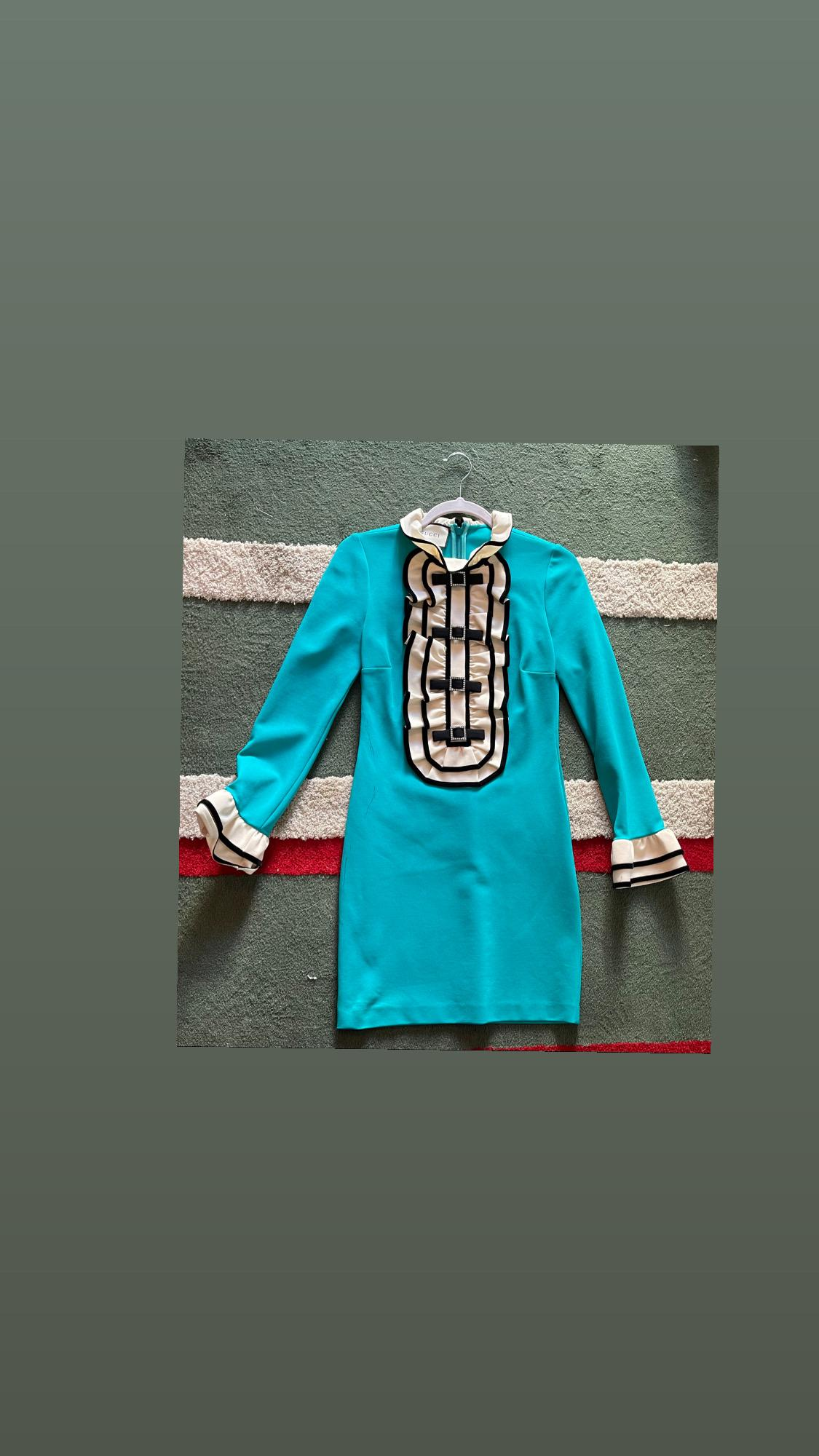 Gucci turquoise dress