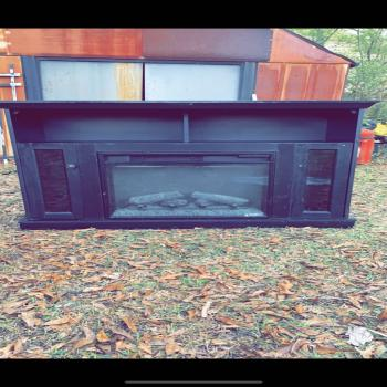 tv stand fireplace spaceheater