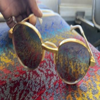 gold Gucci glasses for sale