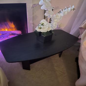 coffee table with flower decor