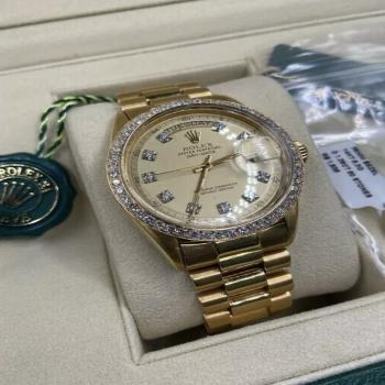 Rolex men watch 18k solid gold