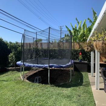 14 foot square trampoline