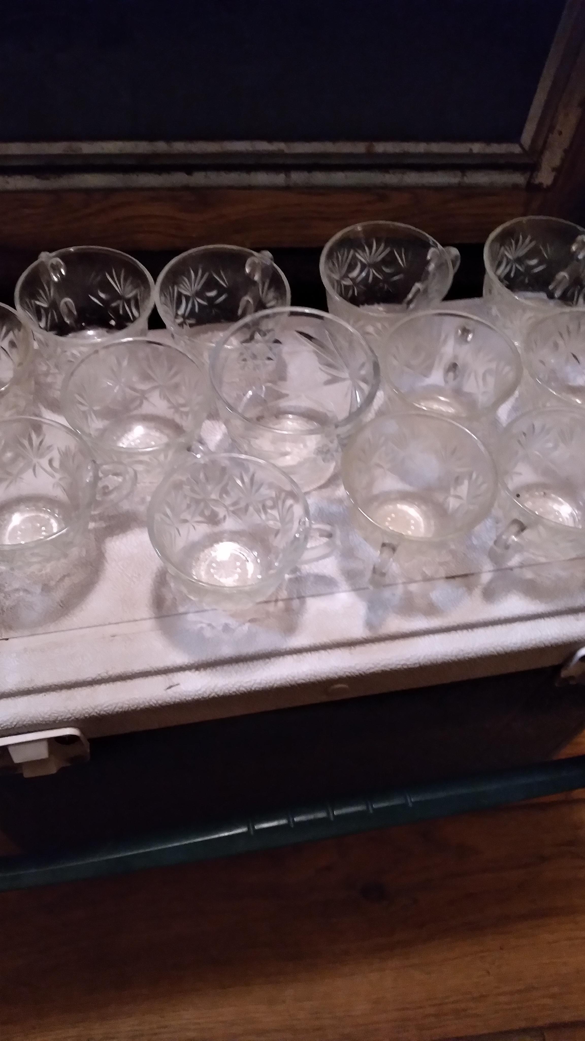 Beautiful punch bowl set