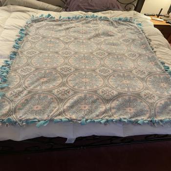 handmade tie blanket