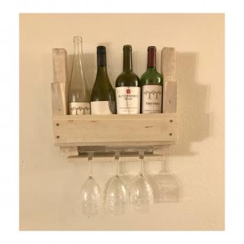 Handmade mini wine rack