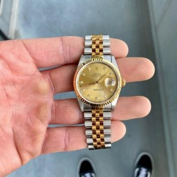 Rolex 18k solid gold daimond