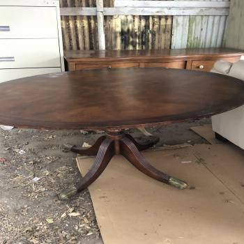 table, stools, cabinet etc